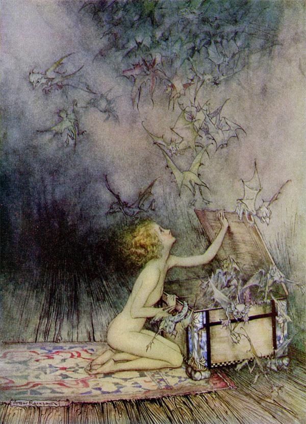 Pandora_by_Arthur_Rackham